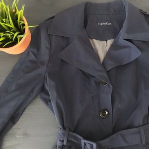 Calvin Klein Women's Trench Coat in Navy